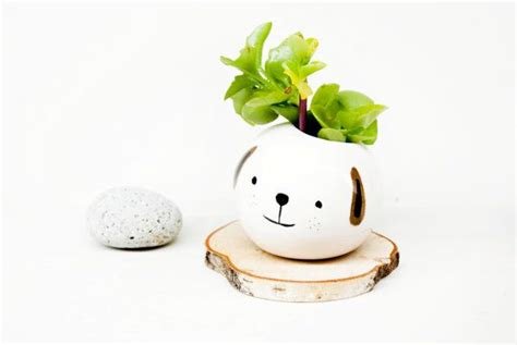 Animal Ceramic Planter Pepe The Dog