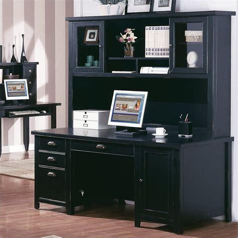 black home office desk with hutch martin furniture tribeca loft pedestal desk with