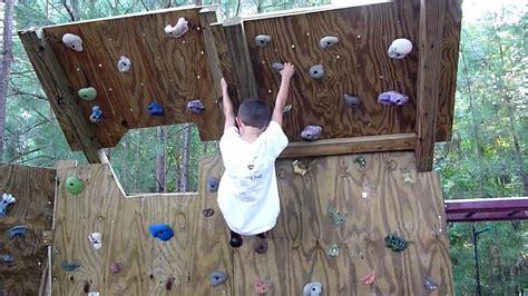 5 Year Old Climber On The New Backyard Climbing Wall