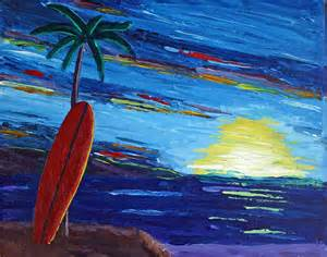 Surf Beach Art Paintings