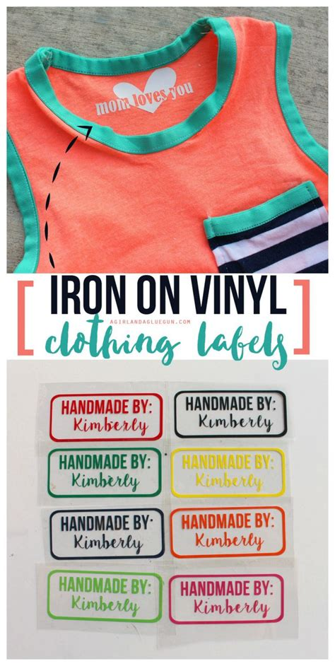 iron  vinyl tags  homemade clothes  giveaway