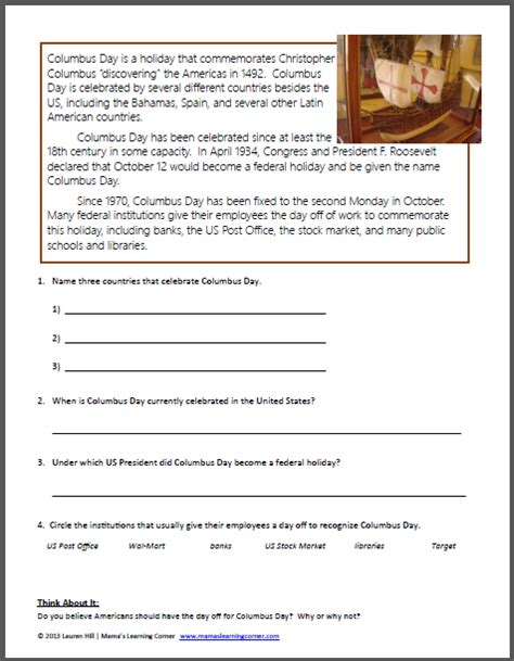 christopher columbus worksheets mamas learning corner