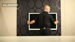 Fixer Une Télé Au Mur : fixer le t l viseur cran plat sur le placopl tre youtube ~ Premium-room.com Idées de Décoration