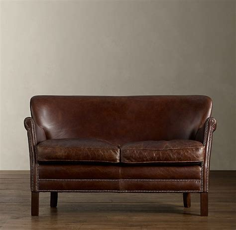 Restoration Hardware Settee by Professor S Leather Settee With Nailheads In 2019