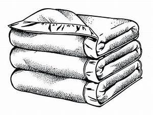 Stock Illustration - Folded blankets