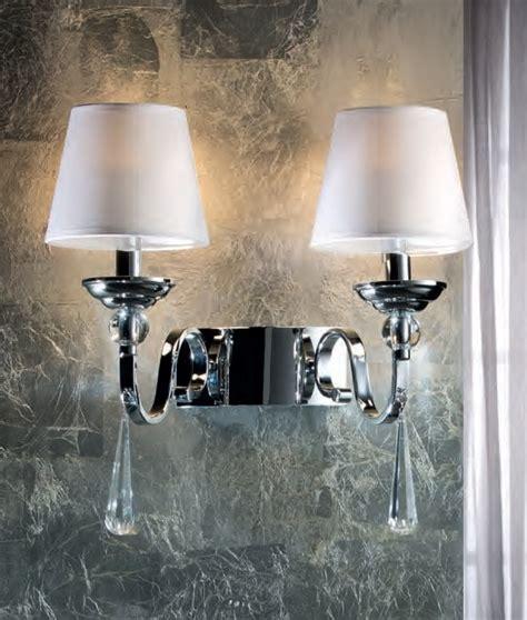 chrome led white shade wall light