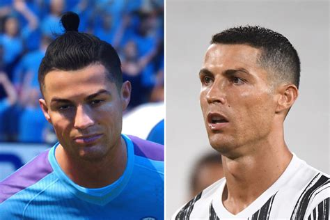 Cristiano Ronaldo pictured in Man City shirt on FIFA 21 ...