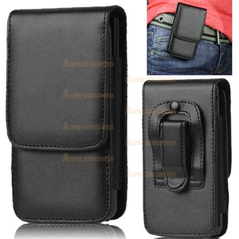 flip phone holster leather flip belt clip hip loop pouch cover holster