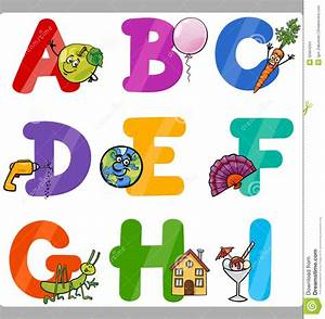 education cartoon alphabet letters for kids stock vector With kids letters