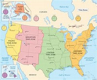 List Of US States By Time Zone Simple English Wikipedia The Us - Map us time zones states