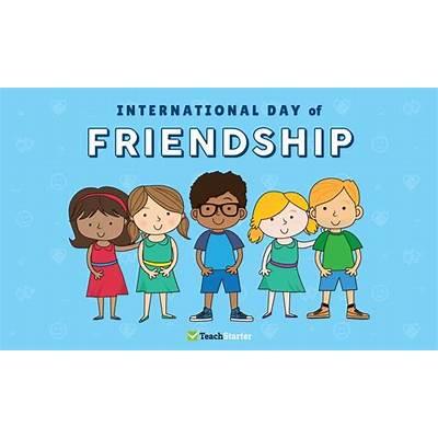 International Day of Friendship Kids Illustration