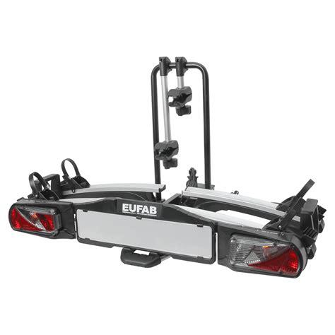 eufab premium 3 fahrradtr 228 ger eufab premium ii plus f 252 r 2 fahrr 228 der montage auf der anh 228 ngerkupplung nutzlast