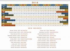 Printable calendar 2018 annual Download 2019 Calendar