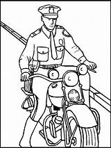 Police Characters Policeman Motorcycle sketch template