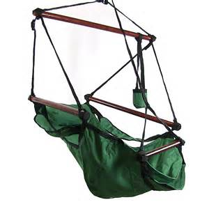 hanging hammock chair w pillow drink holder
