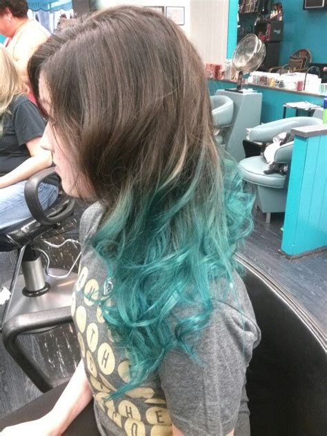 dark brown  teal ombre hair pinterest ombre dark brown  brown