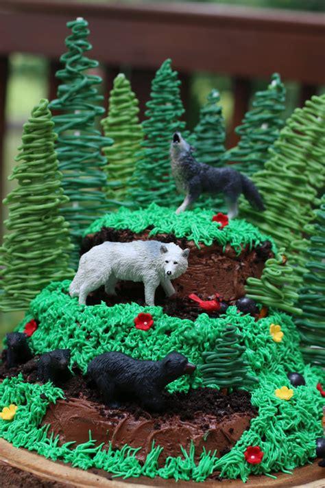 north woods birthday cake chocolate cake  fudgy