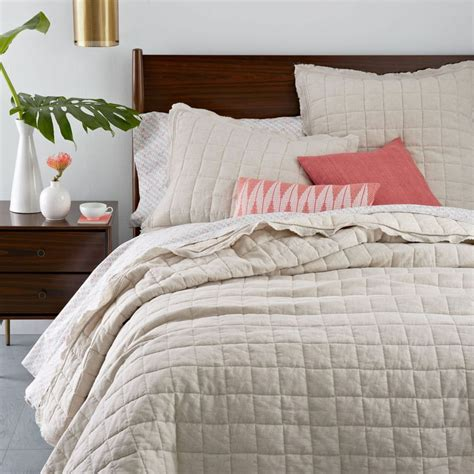 Coverlets Australia by Belgian Flax Linen Quilted Coverlet Pillowcases