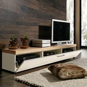 LOWBOARD TV LOWBOARD TV BOARD TV RACK IN KERNBUCHE UND WEISS