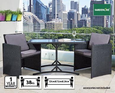 aldi patio furniture set wicker balcony set 3pc aldi australia specials archive