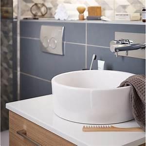 Vasque 35 Cm : vasque poser c ramique cm blanc tube leroy merlin ~ Edinachiropracticcenter.com Idées de Décoration