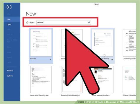 create  resume  microsoft word   sample