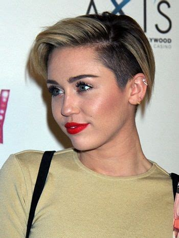 short  edgy  celebrity undercut miley cyrus