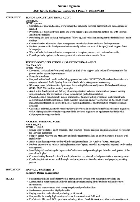 Resume Of Chief Auditor by Chief Auditor Sle Resume Auto Purchase Agreement Template Workforce Specialist