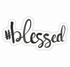 """""""Blessed"""" Stickers by cfinkdoescrafts Redbubble"""