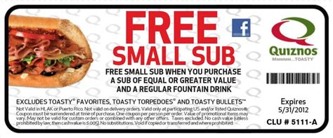 code promo cuisine addict free fast food coupons coupons free small sub with