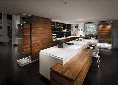 cuisine design bois decoration en treemaison moderne