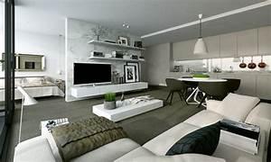Zimmer Mit Dachschrägen Einrichten : wohnzimmer mit k che einrichten ~ Bigdaddyawards.com Haus und Dekorationen