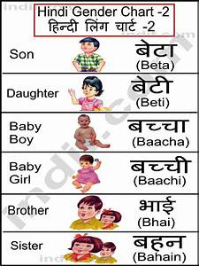 Hindi | Hindi Gender Chart, हिन्दी लिंग चार्ट | Learn ...