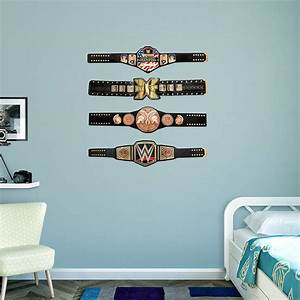wwe title belts collection wall decal shop fatheadr for With cool wwe wall decals