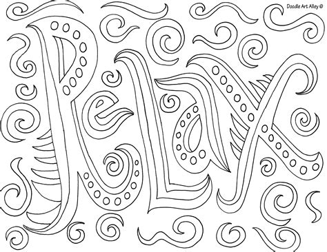 Free Printable Relaxing Coloring Pages Really Cool