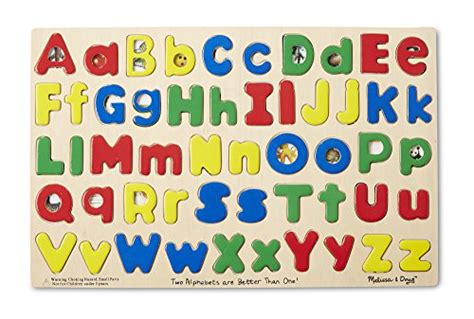 melissa doug upper  case alphabet letters wooden puzzle  pcs buy   uae