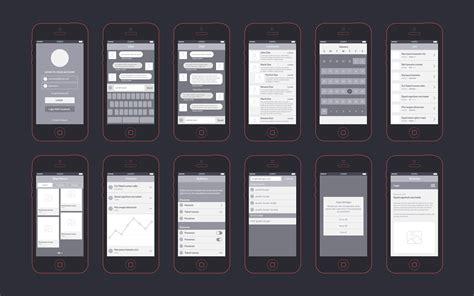 app wireframes kit graphicburger