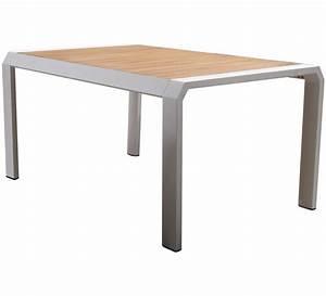 Table Jardin 8 Personnes : table de jardin aluminium blanc teck miami 8 personnes 200 x 100 cm 5 ~ Teatrodelosmanantiales.com Idées de Décoration