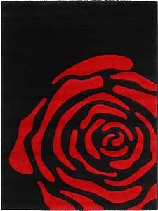 Teppich Rot Schwarz : benuta designer teppich california rose schwarz rot ebay ~ Pilothousefishingboats.com Haus und Dekorationen