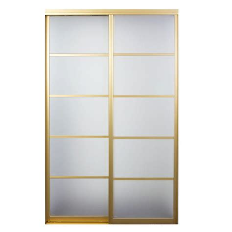 contractors wardrobe 84 in x 81 in silhouette satin gold
