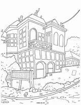 Coloring Pages Cityscape Street Adult Printable Colouring Houses Adults Tree Corner Drawing Taste Sheets Catan Books Pat Getdrawings Getcolorings Cityscapes sketch template