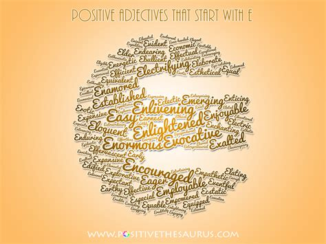 7 letter words starting with e positive thesaurus positive words for you positive