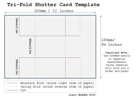 tri fold shutter card template templates pinterest