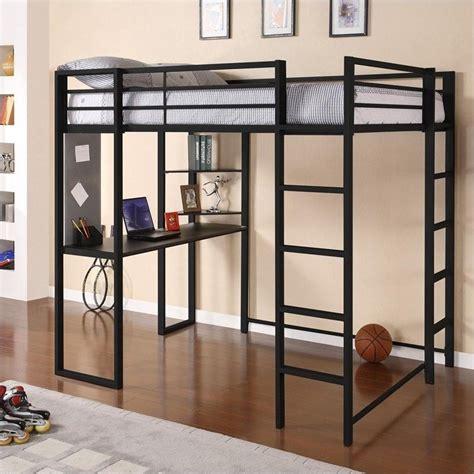Dhp Loft Bed by Dhp Abode Size Metal Loft Bed Black