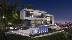 modern hollywood hills mansion Interior Design Ideas