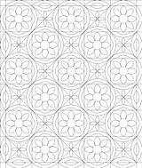 Quilt Coloring sketch template