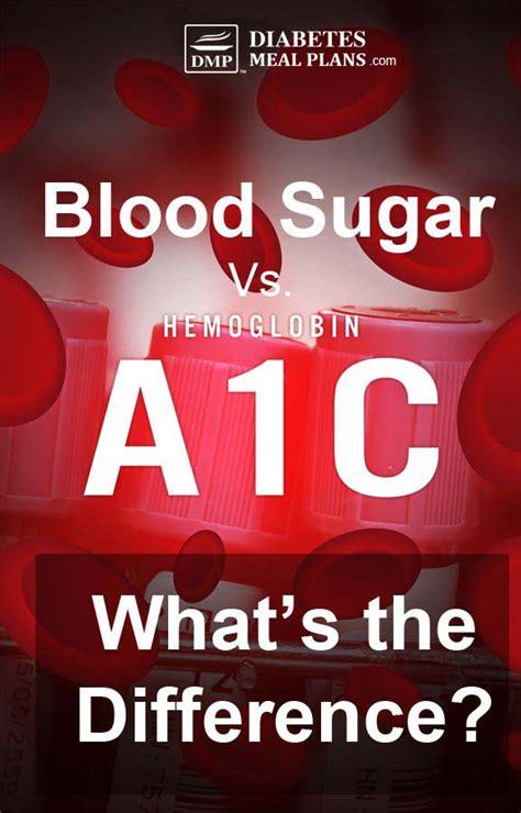 whats  difference  hemoglobin ac  blood sugar