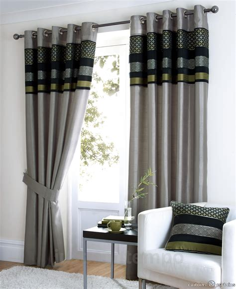 Black And Grey Curtains by Saturn Black Silver Green Luxury Eyelet Curtain Home