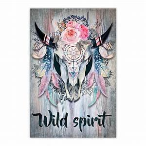 Tete De Buffle Deco : toile t te de buffle boho 40 x 60 cm wild spirit ~ Dailycaller-alerts.com Idées de Décoration