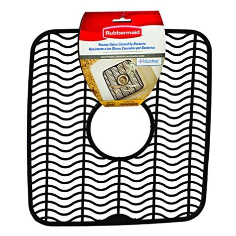 Sink Protector Mat Black by Rubbermaid Antimicrobial Sink Protector Mat Black Waves